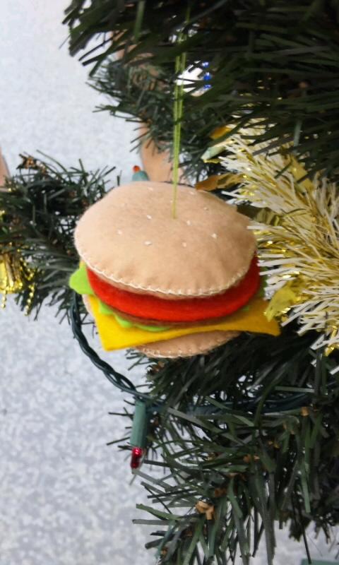 ハンバーガーのオーナメント
